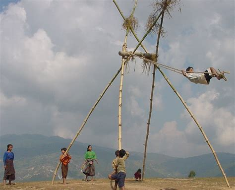 swing t during the festival time nepali families build huge