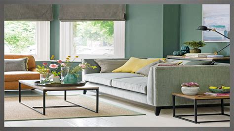 colors    sage green couch  cream rugs