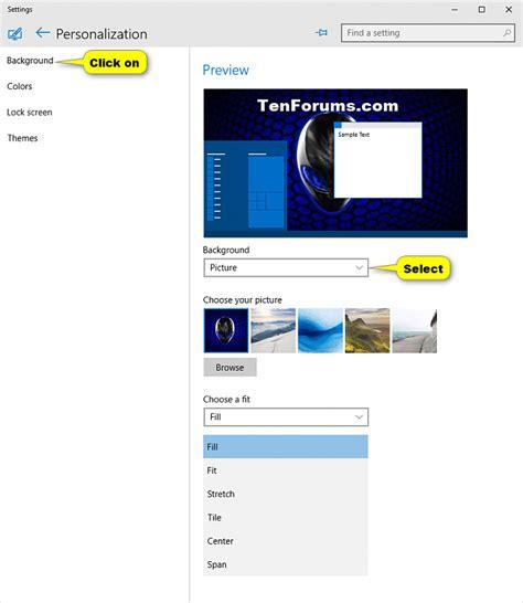 windows 10 wallpaper tutorial desktop background change in windows 10 windows 10