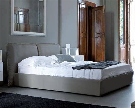 bed with soft headboard single or idfdesign