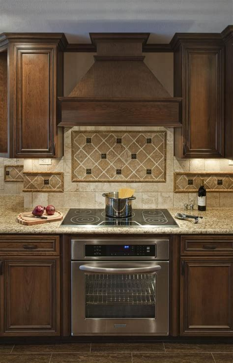 kitchen range hood ideas backsplash ideas for under range hood tops along with wooden vent hood and diagonal tile