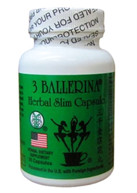 Detox Slimming Vest by 3 Ballerina Herbal Slim Capsules 30 Caps
