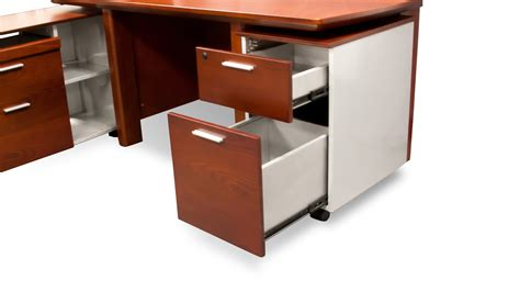 wood desk and file cabinet woodrow modern wood desk with rolling return and file