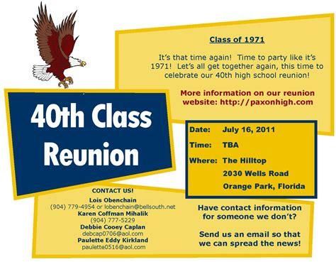 class reunion template image class reunion flyer