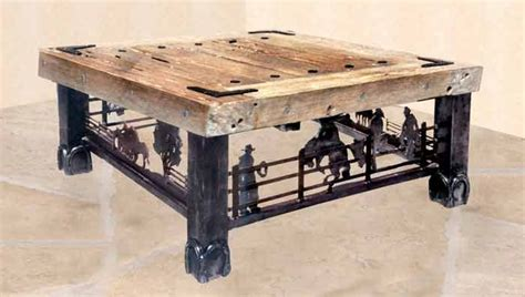 western coffe tanles coffee table western