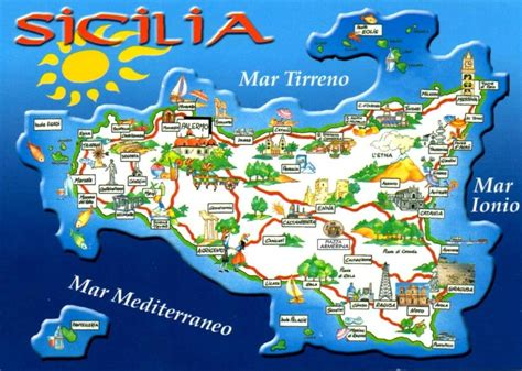 carte sicile photo en  sicilia viajes  italiano
