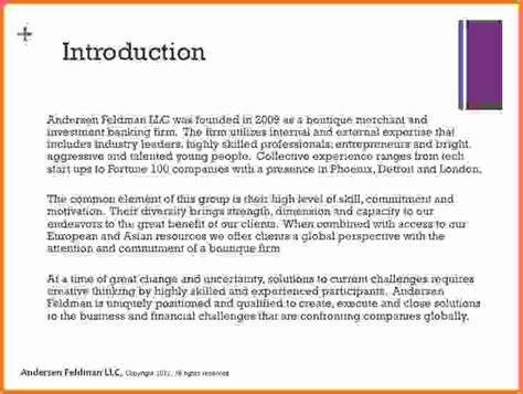 Introduction Letter Sle Company introduction for a report sle 28 images introduction
