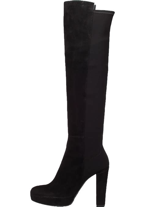 stuart weitzman demistrong black suede high shaft boot in