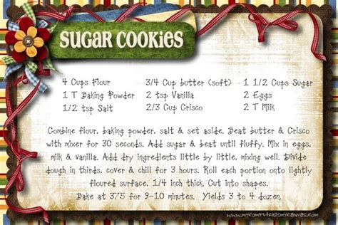 printable cing recipes frosted sugar cookies by my computer is my canvas