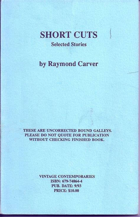 signals new and selected stories vintage contemporaries books cuts selected stories by raymond carver