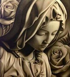 tattoo flash virgin mary virgin mary done in acrylic pencil my art pinterest