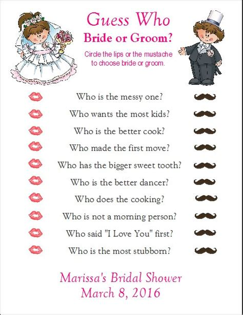 items similar 24 personalized guess who bride or groom