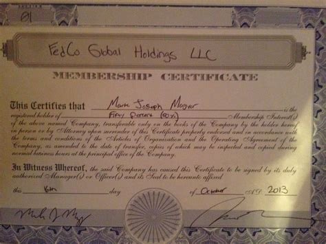 I Am Filling Out Llc Membership Certificates And Was Legalzoom Stock Certificate Template
