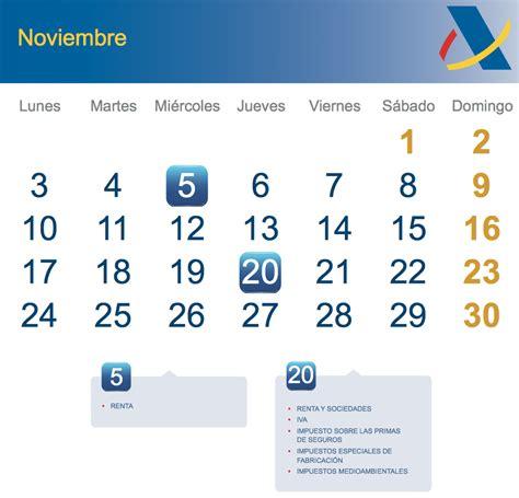 Calendario Noviembre 2014 Calendario Fiscal Noviembre 2014 Rankia