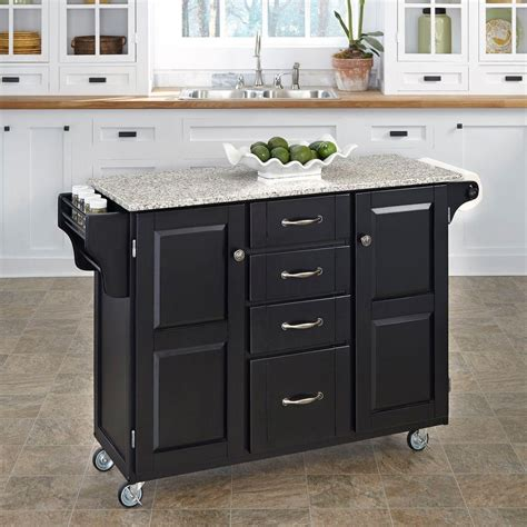 americana kitchen island black the home depot canada home styles americana black kitchen island with drop leaf