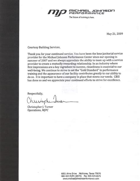 Reference Letter Custodian Cleaning Services Dallas Tx Janitorial Services Courtesy Building Services Inc