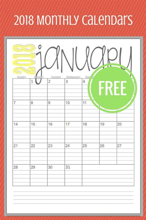 printable calendars images pinterest
