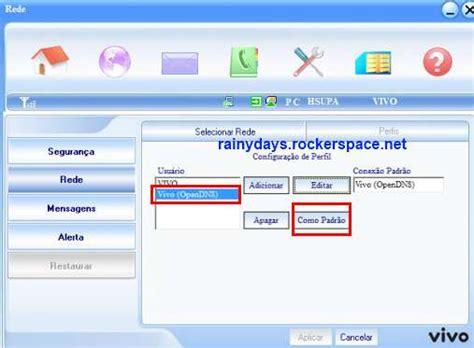 tutorial internet gratis no modem configurar opendns no modem 3g da vivo passo a passo