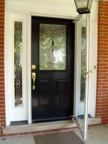 home entrance door black front door
