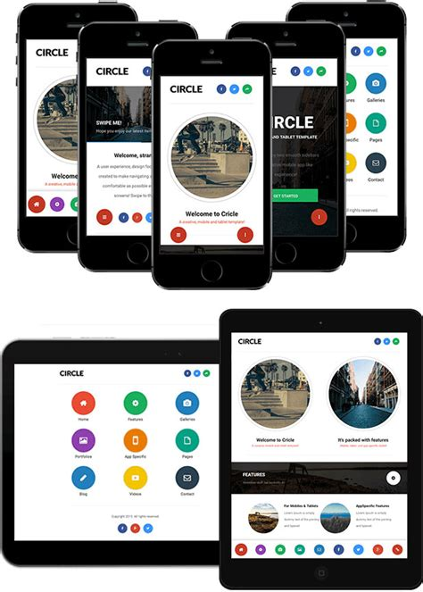 varius mobile and tablet creative template by sindevo 60 best mobile web html templates 2015