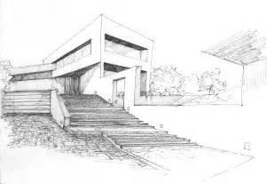 house sketch valdemorillo residence modern architecture sketches