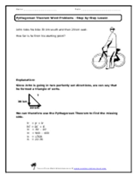 Pythagorean Theorem Word Problems Worksheet by Pics For Gt Pythagorean Theorem Word Problems