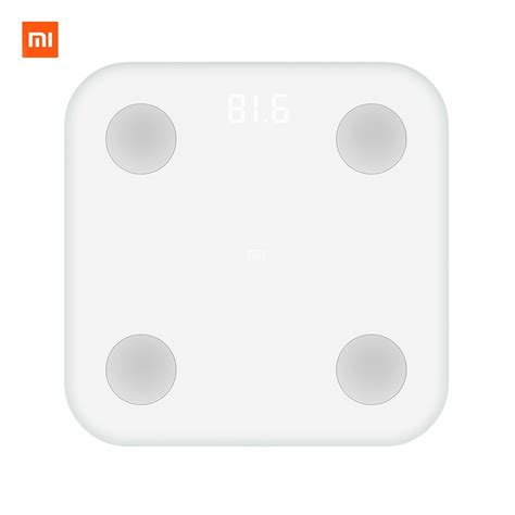 xiaomi mi smart composition scale  weight health mifit app body monitor hidden led display