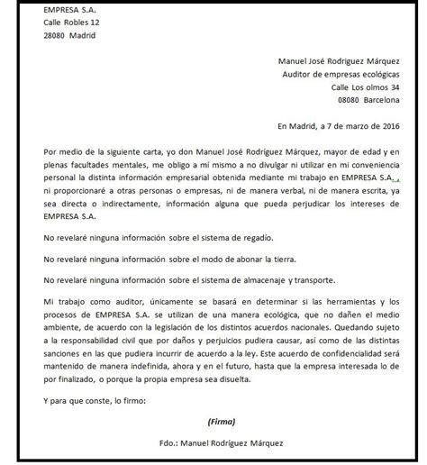Formato De Carta De Responsabilidad Y Confidencialidad | modelo de carta de confidencialidad