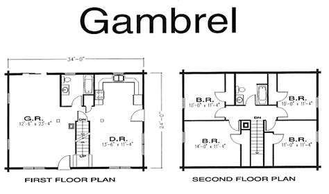 gambrel house plans gambrel cabin plans gambrel log home log home kits plans