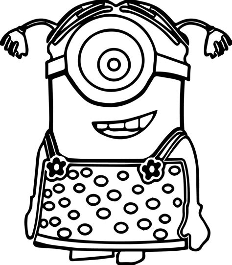 coloring pages childrens film free minion clipart cartoon