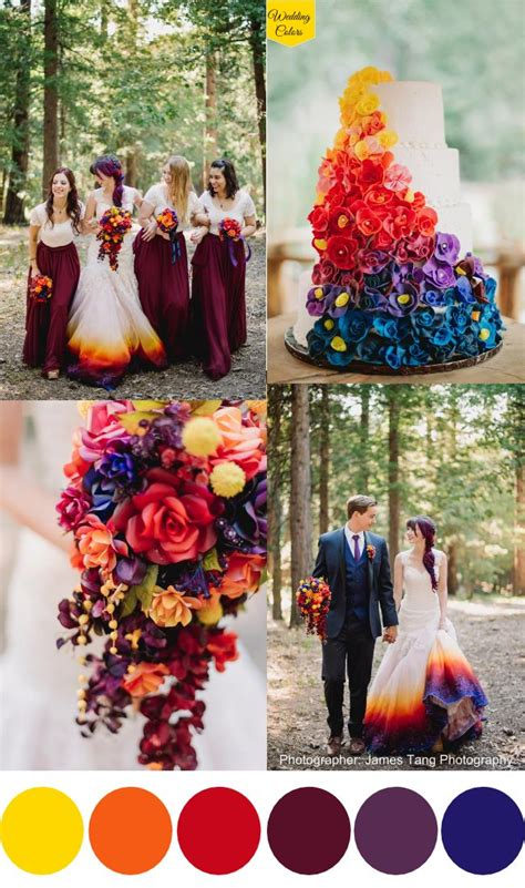 colorful wedding colorful wedding decoration ideas unique wedding ideas