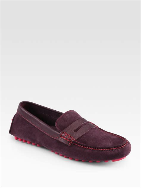 cole haan air grant loafer cole haan air grant loafers in purple for