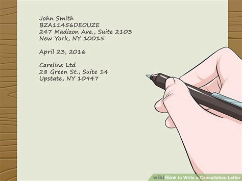 how do you write a tv show in a paper easy ways to write a cancellation letter wikihow