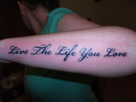 love the life you live tattoo live the you