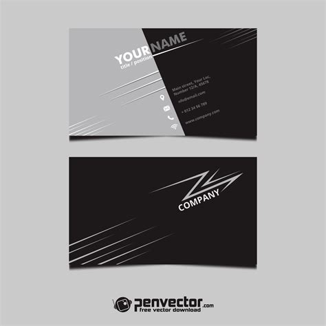 Black Business Card Template Vector by Simple Black Business Card Template Free Vector Vectorpic