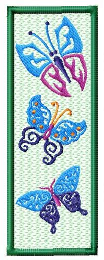printable butterfly bookmarks 4 hobby com machine embroidery designs projects