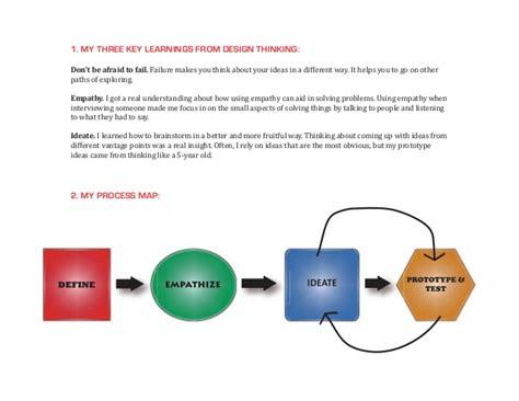 design thinking reflection my design thinking reflection