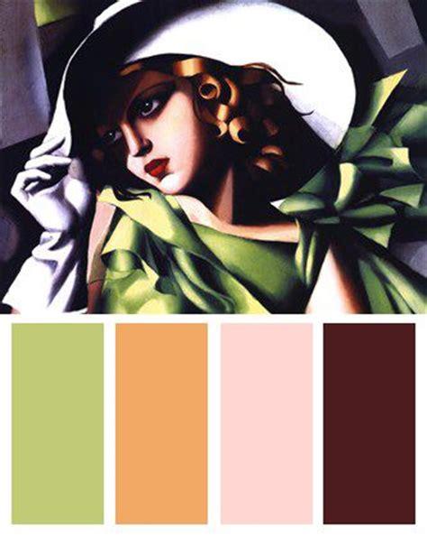 art deco color palette jeune fille vert art deco color palette color palettes pinterest