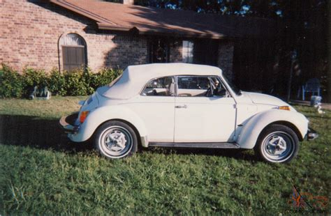 volkswagen beetle white convertible 1977 vw super beetle convertible triple white