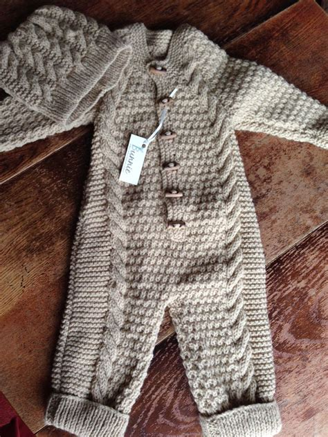 cable knit sweater onesie baby boy cable knit one and hat set by