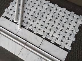 Home Depot Kitchen Backsplash Tiles basket weave tile basketweave carrara marble bathroom