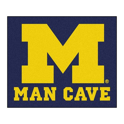 rugs michigan fanmats of michigan blue cave 5 ft x 6 ft area rug 14670 the home depot
