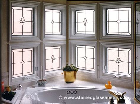 glass patterns for bathroom windows stained glass austin solves the problem of privacy in your