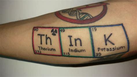 periodic table tattoo atheist periodic table of elements thorium