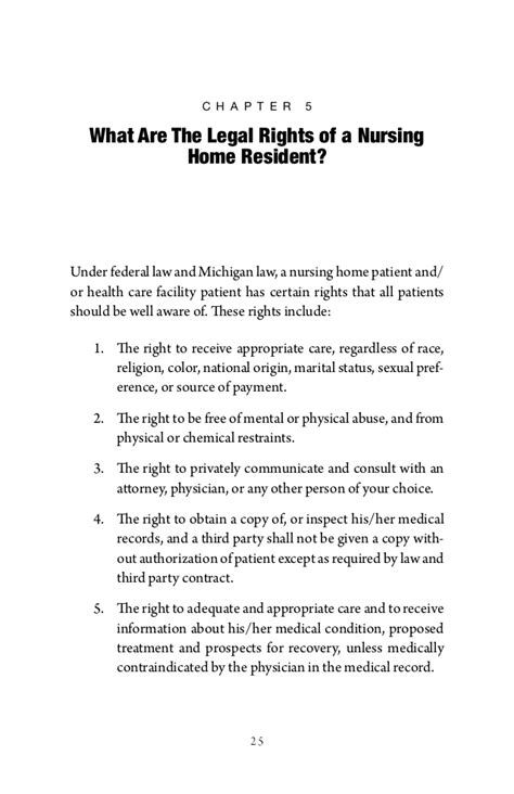 the michigan nursing home abuse neglect handbook