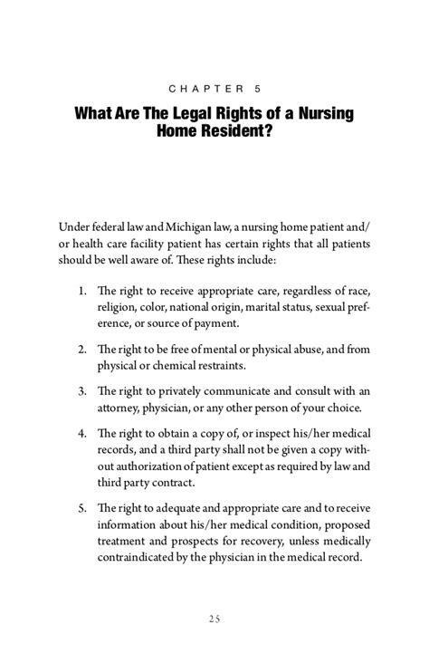 the michigan nursing home abuse neglect handbook