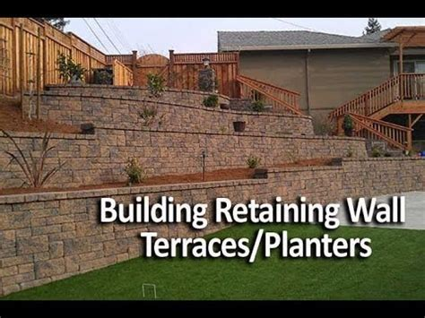 cost of building a garden wall building terraced retaining walls or in wall planters