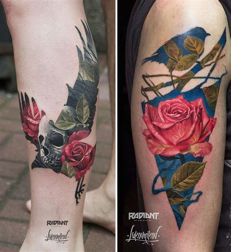 double h tattoo exposure tattoos by ukrainian artist andrey