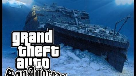 titanic real boat underwater video gta sa titanic underwater gta myths wiki