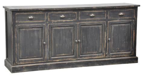 Distressed Sideboards rolli blackwood distressed pine storage sideboard contemporary buffets and sideboards by